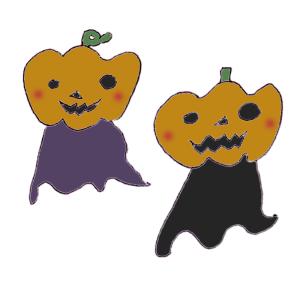 おばけかぼちゃのボールペンイラスト