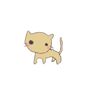 猫のボールペンイラスト