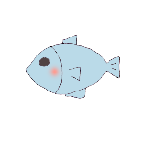 魚のボールペンイラスト