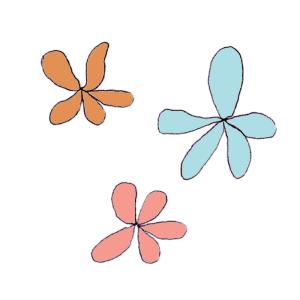 花のボールペンイラスト