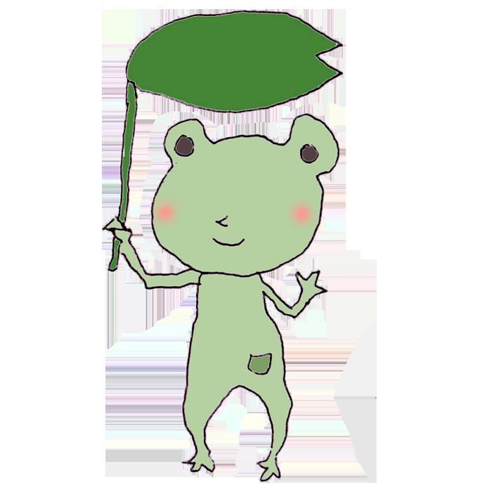 カエルのボールペンイラスト 無料 イラストk