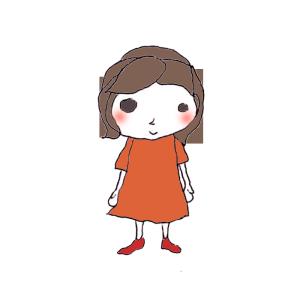 女の子のボールペンイラスト