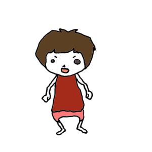 怒る女の子のボールペンイラスト03