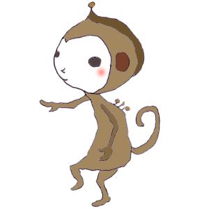 猿のボールペンイラスト