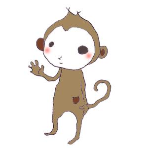 猿のボールペンイラスト02