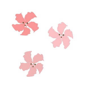 桜の花の筆イラスト