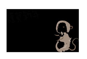 年賀状-筆テンプレート(猿)02