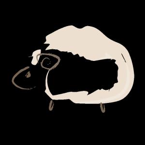 羊の筆イラスト