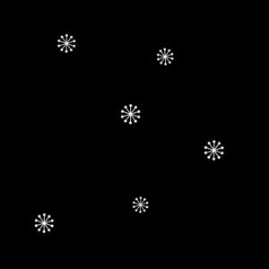 桜の花の白黒イラスト03
