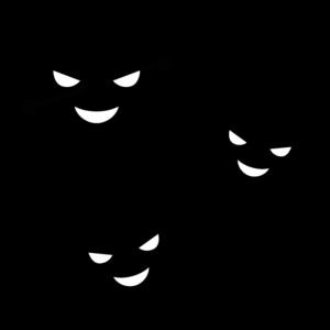 コロナウイルスの白黒イラスト