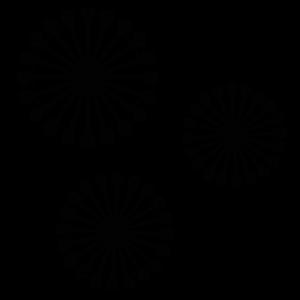 コロナウイルスの白黒イラスト02