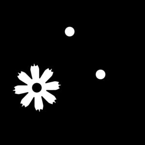 コスモスの白黒イラスト