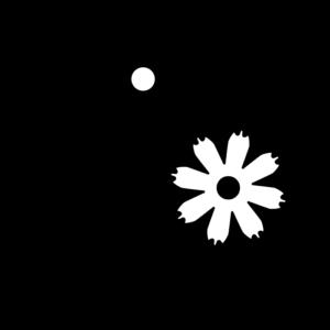 コスモスの白黒イラスト02