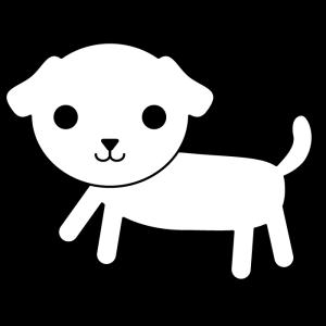 犬の白黒イラスト