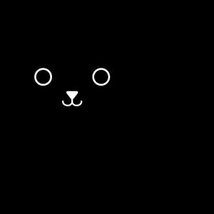 犬の白黒イラスト02