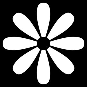 花の白黒イラスト