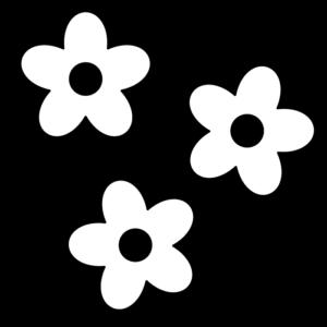 花の白黒イラスト03