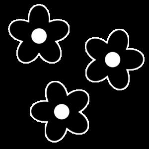 花の白黒イラスト04