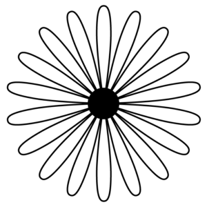 花の白黒イラスト05