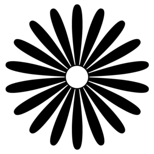 花の白黒イラスト06