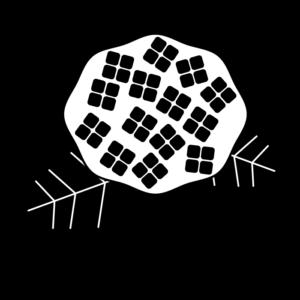 あじさいの白黒イラスト02