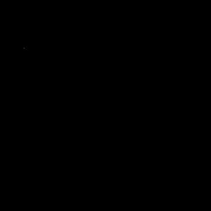 寒中見舞いの白黒文字イラスト