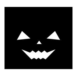 おばけかぼちゃの白黒イラスト