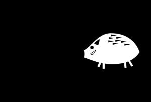 年賀状-2019年-白黒テンプレート(猪)横