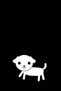 年賀状-2018年-白黒テンプレート(犬)
