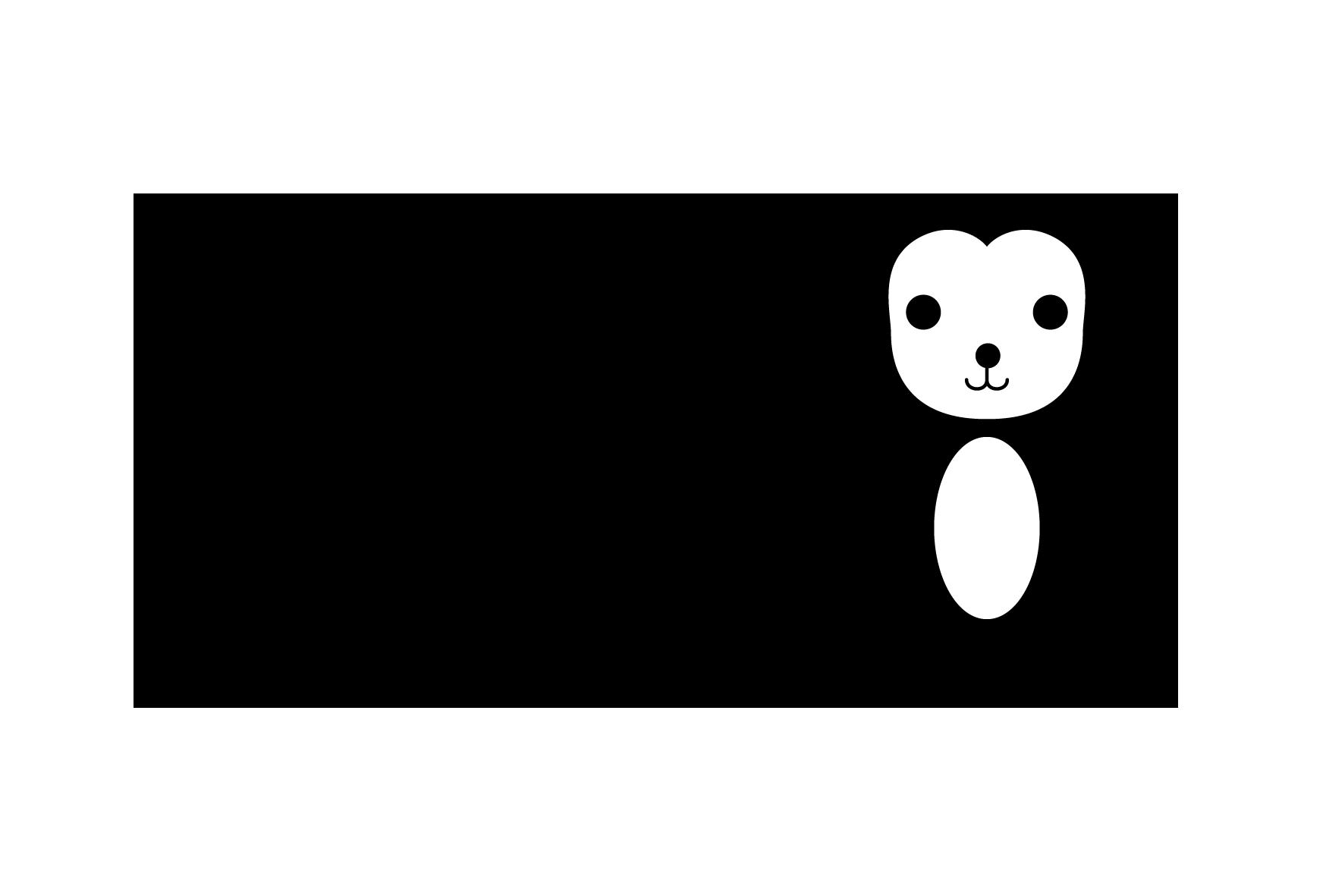 年賀状-白黒テンプレート(猿) <無料> | イラストk