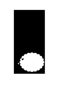 年賀状-白黒テンプレート(羊)<無料>