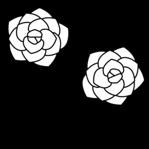 バラの白黒イラスト02