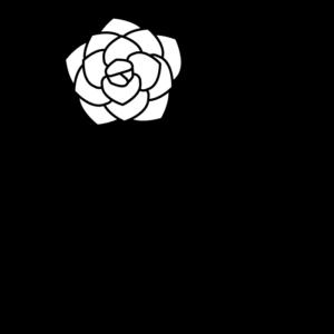 バラの白黒イラスト03