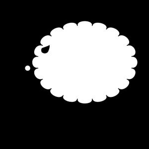 羊の白黒イラスト