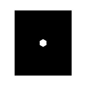雪の結晶の白黒イラスト