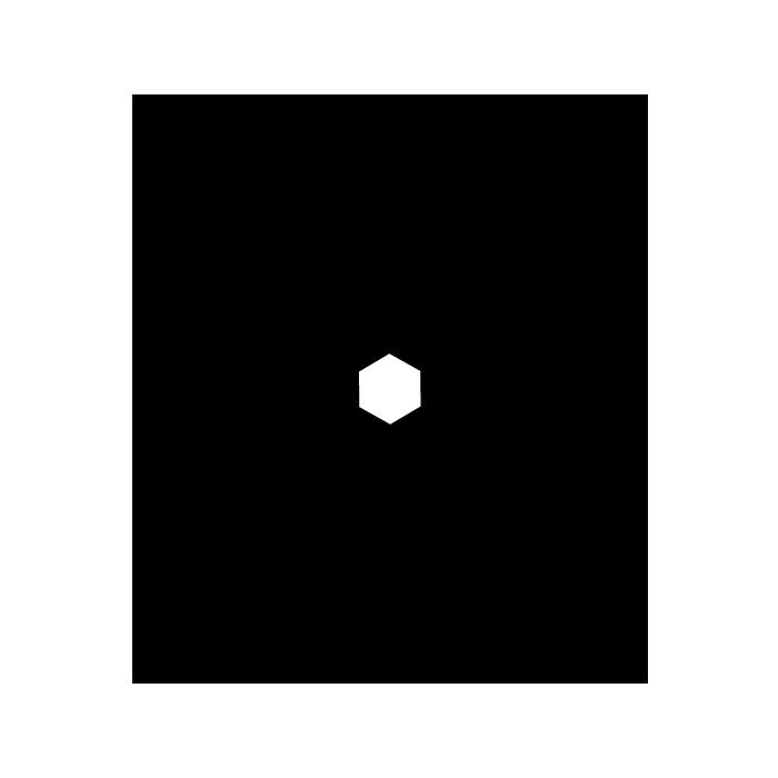 雪の結晶の白黒イラスト <無料>