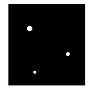 雪の結晶の白黒イラスト02