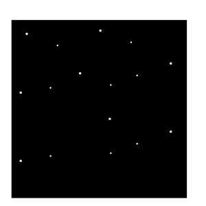 雪の結晶の白黒イラスト03