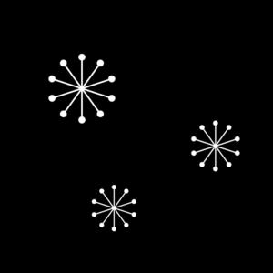 梅の花の白黒イラスト03