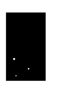 寒中見舞い-白黒テンプレート(雪)