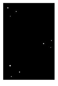 寒中見舞い-白黒テンプレート(雪)02