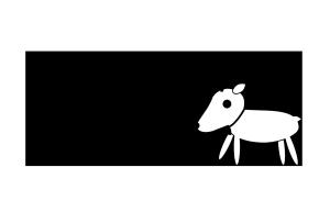 クリスマスカード-白黒テンプレート(トナカイ)