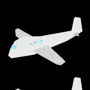 飛行機のコラージュ風イラスト