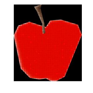 りんごのコラージュ風イラスト