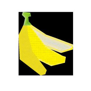 バナナのコラージュ風イラスト