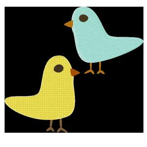 鳥のコラージュ風イラスト