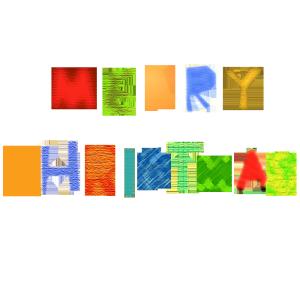 MERRY CHRISTMASのコラージュ風文字イラスト