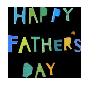 HAPPY FATHER'S DAYのコラージュ風文字イラスト