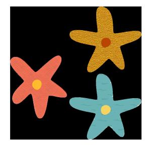 花のコラージュ風イラスト