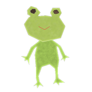 カエルのコラージュ風イラスト